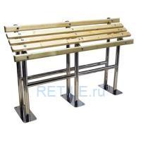 Скамья для инвалидов опорная СТАНДАРТ-1 из нержавеющей стали