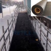 Пандус ЭКСТРА с резиновым покрытием и поручнями из нержавеющей стали
