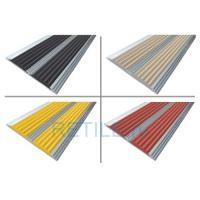 Алюминиевая полоса с 2 противоскользящими вставками 70х5,5 мм