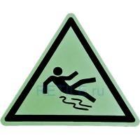 """Противоскользящий фотолюминесцентный знак """"Осторожно, скользкий пол"""""""