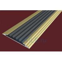 Алюминиевая анодированная полоса с противоскользящей вставкой 40х5,6 мм