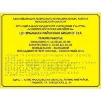 Комплексная тактильная табличка ЭКОНОМ на ПВХ 300х400 мм
