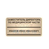 Комплексная тактильная табличка с карманом на композите 150х300 мм