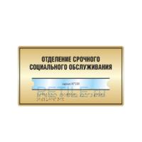 Комплексная тактильная табличка с карманом на металлизированном пластике 200х300 мм