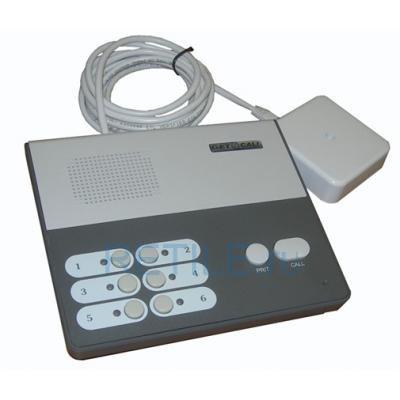 Проводная система вызова: пульт селекторной связи на 6 абонентов