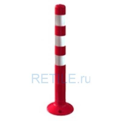 Столбик сигнальный красный 750 мм