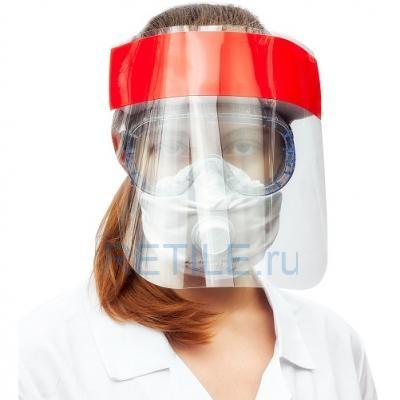 Защитный экран для лица с налобником (Россия)