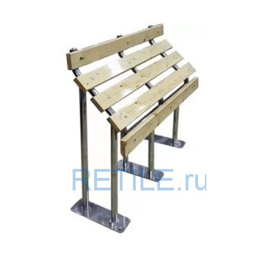 Скамья для инвалидов высокая СТАНДАРТ-2 из нержавеющей стали