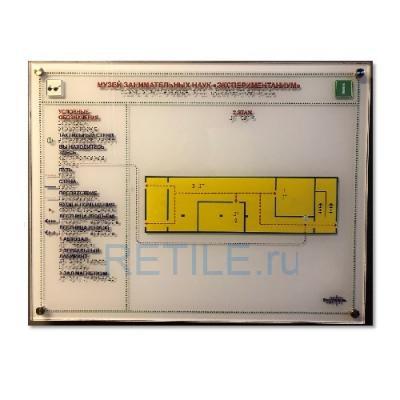 Тактильная мнемосхема на оргстекле 470х610 мм
