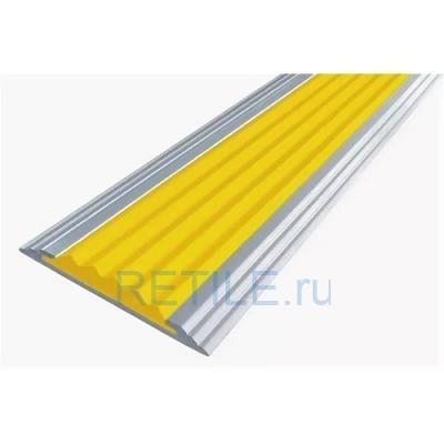 Алюминиевая полоса с противоскользящей вставкой 40х5,6 мм