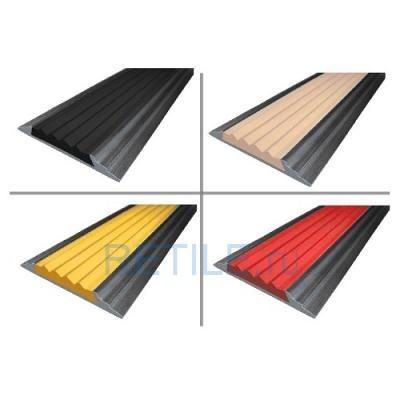 Алюминиевая полоса с противоскользящей вставкой 46х6,8 мм