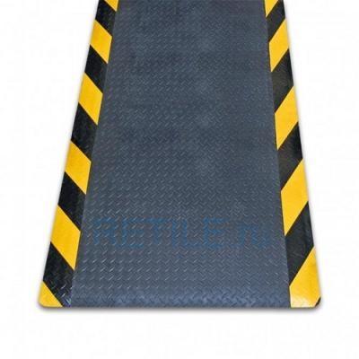 Противоскользящий мат с желто-черными краями 600x900х14 мм