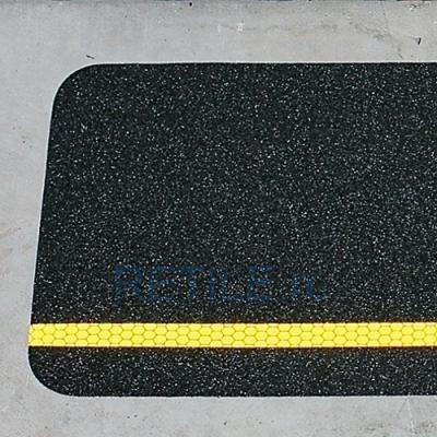 Противоскользящая черная наклейка со светоотражающей вставкой