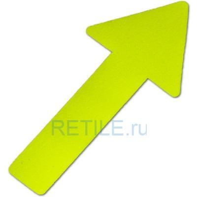 Противоскользящий фотолюминесцентный напольный знак Стрелка