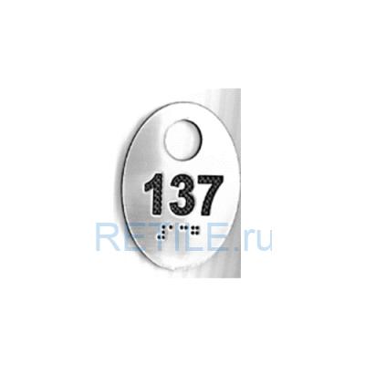 Тактильная табличка нестандартная на металлизированном пластике 200х100 мм