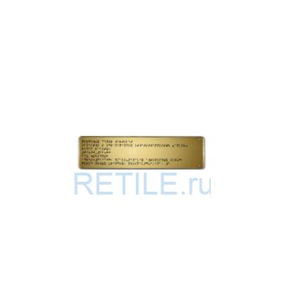 Тактильная табличка шрифтом Брайля на стальной основе 50х270 мм