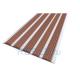 Алюминиевая полоса с 5 противоскользящими вставками 162х6,0 мм